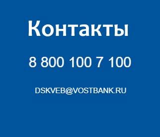 Контакты банка Восточный