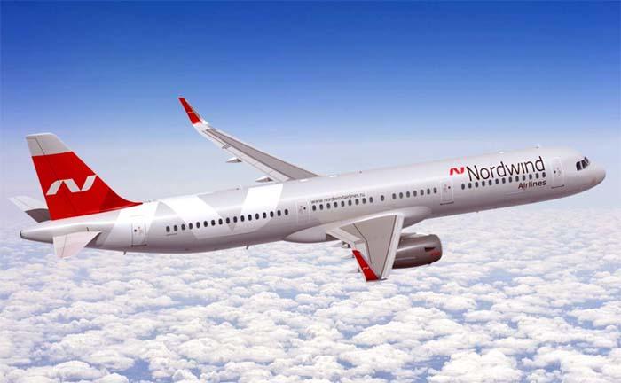Самолет авиакомпании Nordwind airlines
