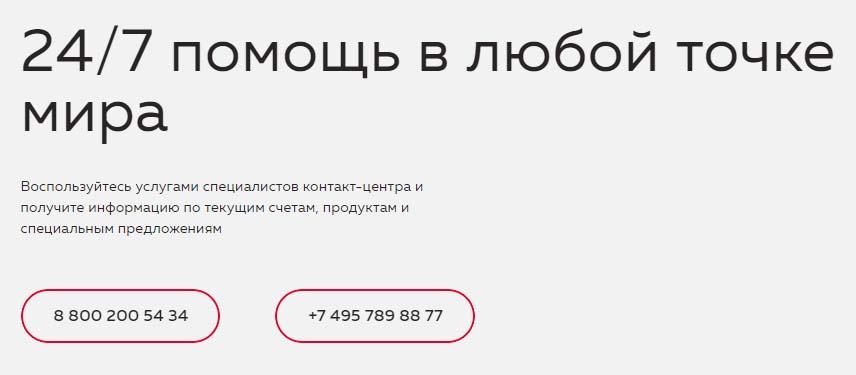 Контакты Росбанка
