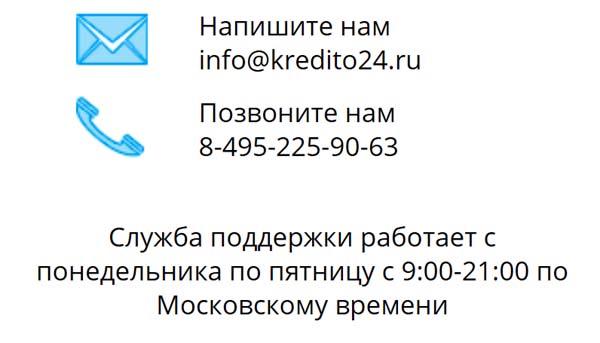Контакты Кредито 24