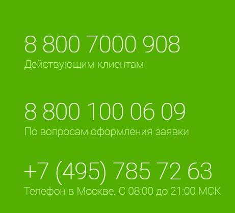Контакты Миг Кредит
