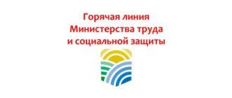 Горячая линия Министерства труда и социальной защиты