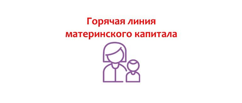 Горячая линия материнского капитала