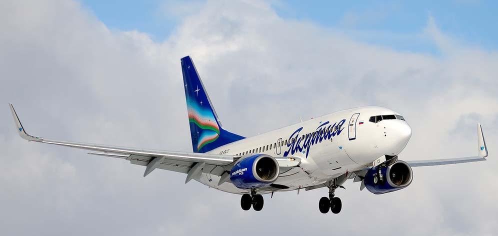 Самолет авиакомпании Якутия