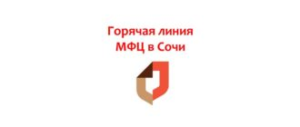Горячая линия МФЦ в Сочи