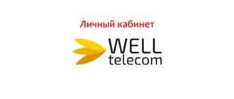 Личный кабинет Well Telecom